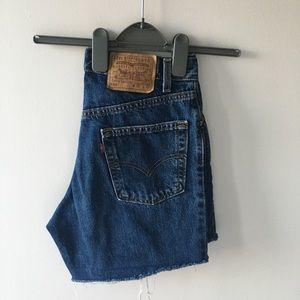 Vintage high-waist Levi's 550 cutoff shorts